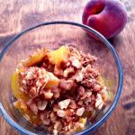 Peach Crumble - Lightened up version of traditional peach cobbler. SO GOOD!