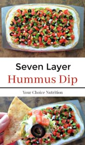 Step up your tailgating game with this {Healthy} Seven Layer Dip! So good no one will guess it's healthy! | Recipe via yourchoicenutrition.com