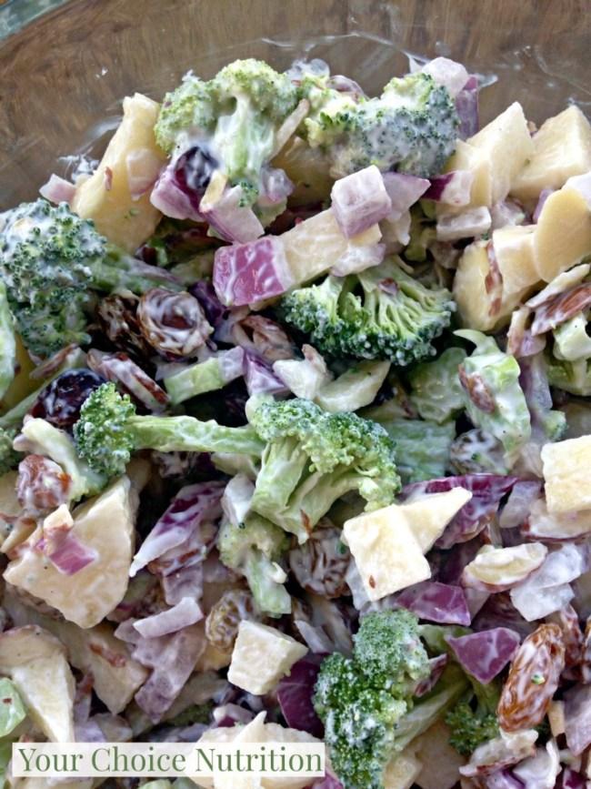 Lightened up Broccoli Apple Salad - made with siggi's yogurt!