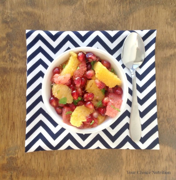 Pomegranate Citrus Salad - a sweet and flavorful blend of winter produce!