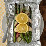 Only 7 ingredients! Lemon Chicken & Veggies Foil Packet Dinner. Gluten-Free. Easy prep & Easy clean-up!