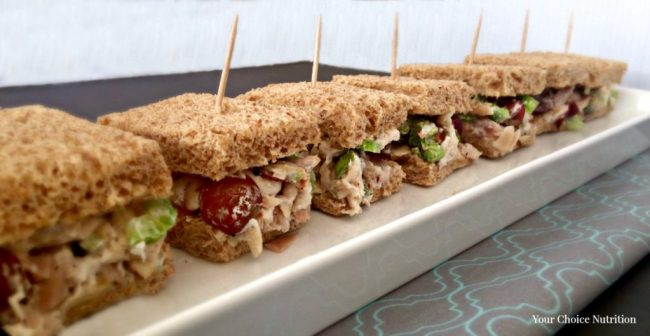 healthy chicken salad sandwich sliders the perfect party finger food