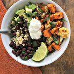 Roasted Sweet Potato & Cauliflower Power Bowl