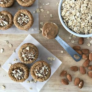 These gluten-free, vegan Almond Granola Cups are the perfect bite-sized snack. Low-carb and with 2 grams of protein and fiber each per cup make these ideal for those with diabetes. | recipe via www.yourchoicenutrition.com