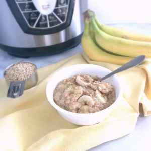 Pressure Cooker Peanut Butter Banana Steel Cut Oats