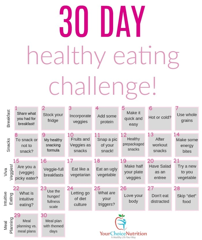 30 Day Healthy Eating Challenge - Your Choice Nutrition