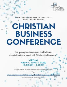 2020 Christian Business Conference - Flyer