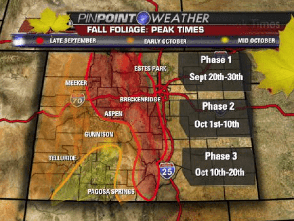 best time to see fall foliage in colorado