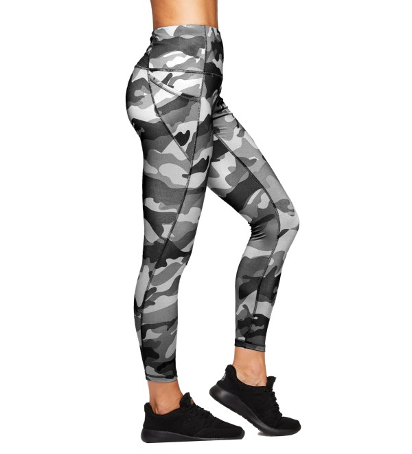 Sport legging yoga camo bk side