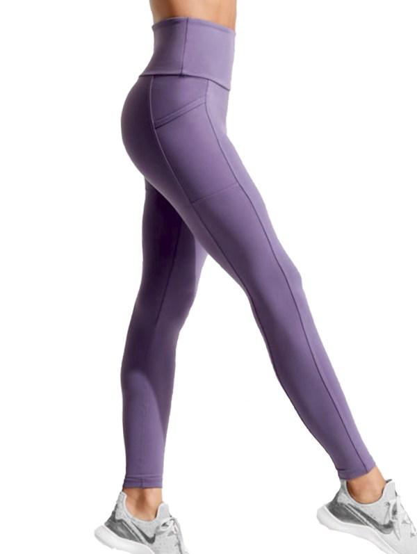 High Waist Pocket Legging- Sportika legging LEG01 Lavander side