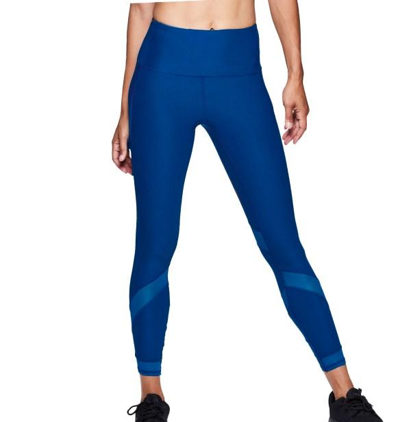 Sportika workout mesh legging model Leg08 royal front