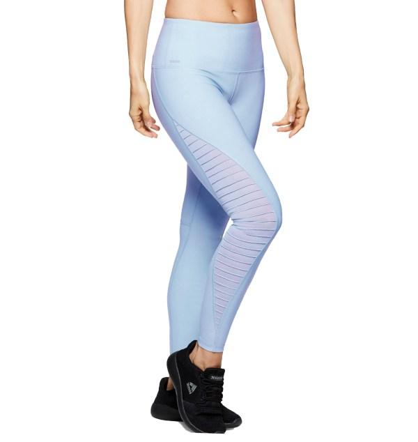 performance sportswear mesh legging YC-SPK-LGN-12 light blue