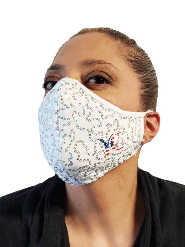 covi-19 coronavirus fashion Face mask white side logo