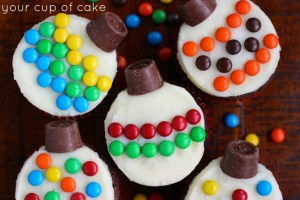 Ornament Cupcakes || Christmas Cupcakes Kids Can Make: 15 Festive Holiday Treats! || Letters from Santa Blog