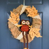 Fall Burlap Wreath from Your Day Your Style