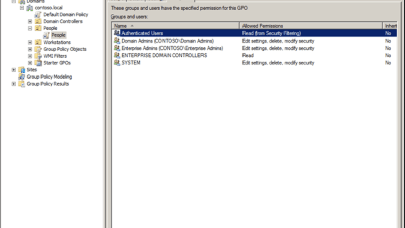 How To Exclude User From Group Policy Object