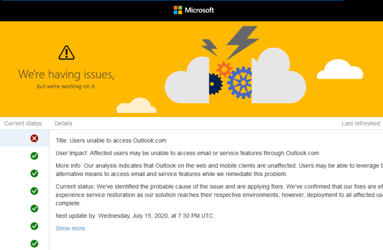 Outlook.com Outage Causing Outlook To Not Open