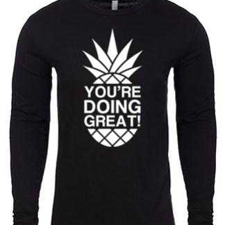 YDG Monotone Pineapple Unisex Black Long Sleeve