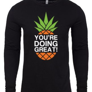 YDG Pineapple Unisex Black Long Sleeve