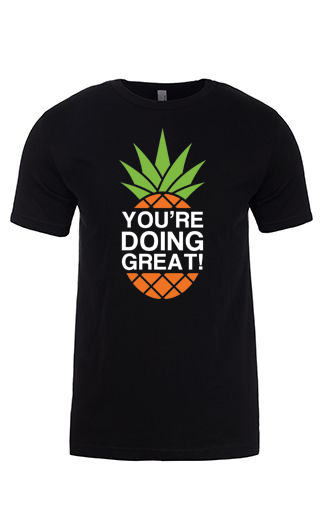 YDG Pineapple Unisex Black T-shirt