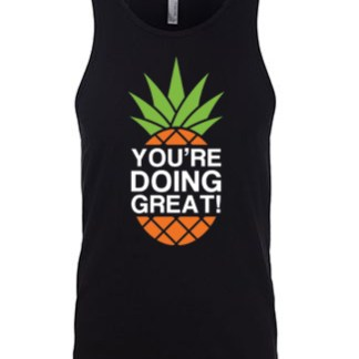 YDG Pineapple Unisex Black Tank Top