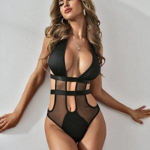 lingerie sexy bodysuit decolleté resille fine