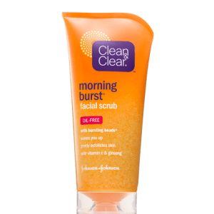 gommage exfoliant visage morning burst clean & clear
