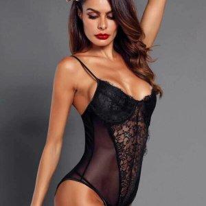bodysuit lingerie sexy dentelle noir