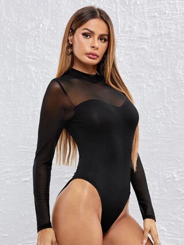 body manche longue élégant femme