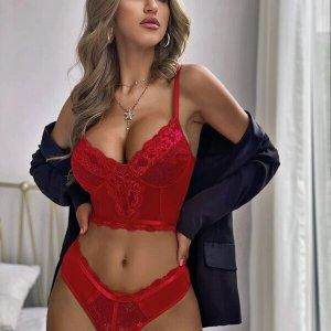 ensemble lingerie dentelle rouge saint valentin