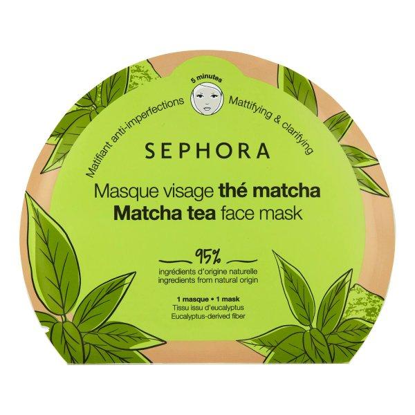 masque tissu matifiant peau grasse thé macha sephora