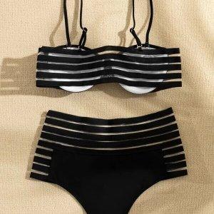 bikini push up taille haute femme