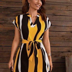 robe courte rayure tendance été femme