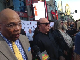 A busy red carpet: Paris Barclay, Dayton Callie. Mark Boone Jr. and Courtney Love