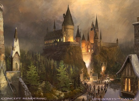 "UNIVERSAL STUDIOS HOLLYWOOD - THEME PARKS -- Pictured: ""The Wizarding World of Harry Potter"" at Universal Studios Hollywood - Hogwarts Castle concept rendering -- (Photo by: Universal Studios Hollywood)"