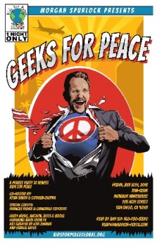 Morgan Spurlock Geeks for Peace SDCC 2015