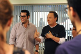 "THE COMEDIANS -- ""Red, White & Working Blue"" Episode 111 (Airs Thursday, June 18, 10:00 pm e/p) -- Pictured: (l-r) Josh Gad as Josh, Billy Crystal as Billy.  CR: Ray Mickshaw/FX."
