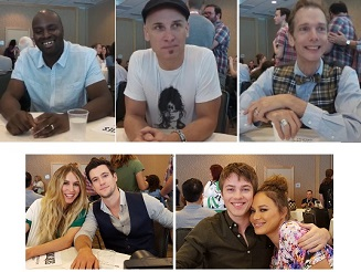 Top (l-r): Co-EP/Director Olatunde Osunsanmi, Colin Cunningham, Doug Jones Bottom (l-r) Sarah Carter and Drew Roy, and Connor Jessup and Moon Bloodgood.