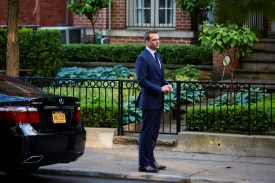 "SUITS -- ""Priviledge"" Episode 506 -- Pictured: Gabriel Macht as Harvey Specter -- (Photo by: Shane Mahood/USA Network)"