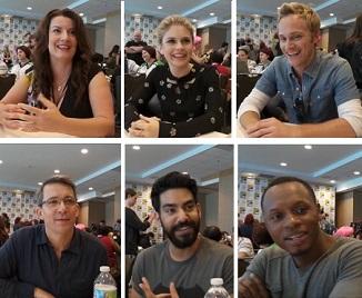 Top Row: Diane Ruggiero-Wright, Rose McIver, David Anders Bottom Row: Rob Thomas, Rahul Kohli, Malcolm Goodwin
