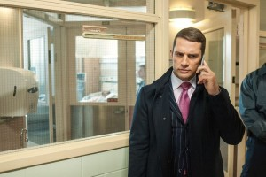 Sandoval receives an important call about Drifty (Jamie Hector) and Vladimir (William Popp).