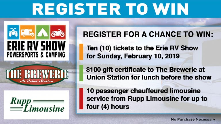 Erie Promotions RV Show Ticket Sweepstakes