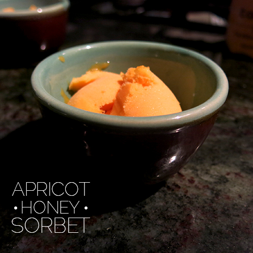 Hipster, Amish, or Poor: Apricot Honey Sorbet