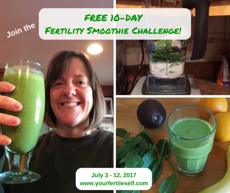 Join My FREE 10-Day Fertility Smoothie Challenge!