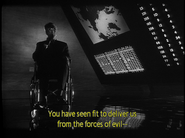 Image result for dr strangelove emerging from the shadows