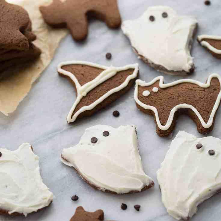 Chocolate Almond Flour Sugar Cookies {Gluten-Free}