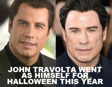 JOHN TRAVOLTA WENT AS HIMSELF FOR HALLOWEEN THIS YEAR