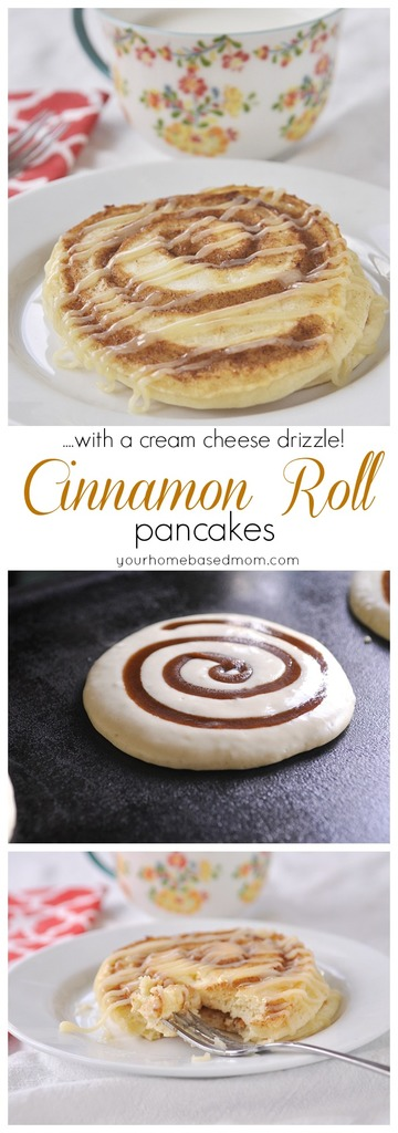 Cinnamon Roll Pancakes Recipe | Your Homebased Mom