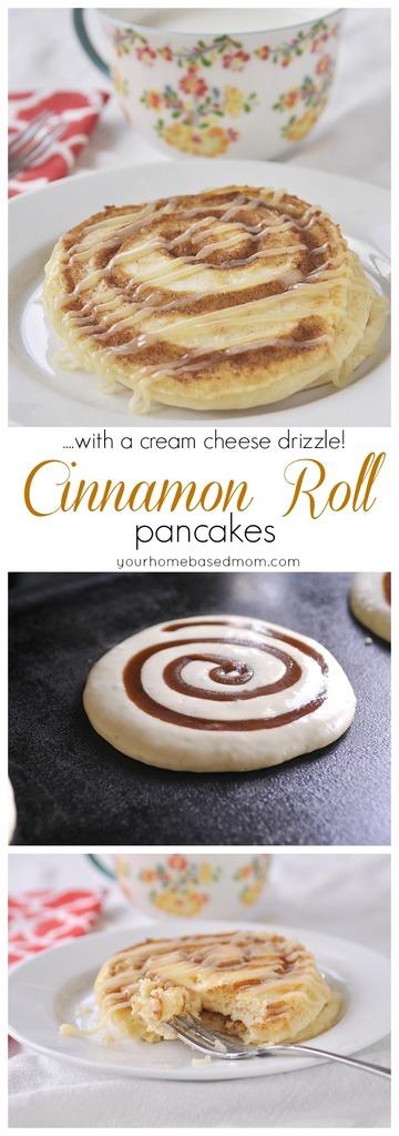 Cinnamon Roll Pancakes Recipe | Your Homebased Mom