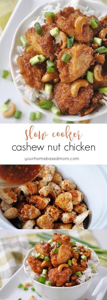 Slow Cooker Cashew Nut Chicken Recipe via Your Homebased Mom